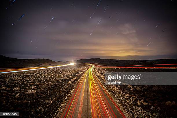 Interstate Highway at Night