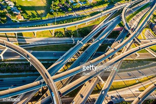 Interstate Highway Interchange I10 I410 convoluted mixmaster San Antonio aerial