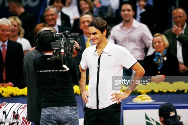 Interview Roger FEDERER Tournoi ATP Davidoff Swiss Indoors Bale