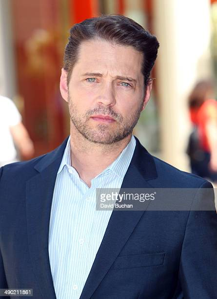Interviews Jason Priestley at Westfield Century City on May 13 2014 in Los Angeles California