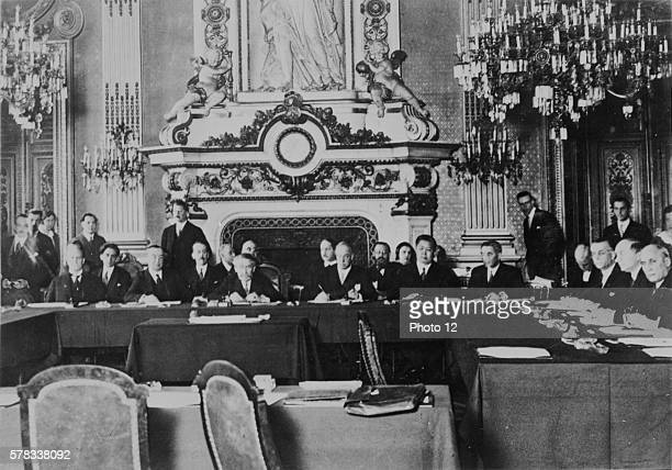 Interwar period Aristide Briand chairing the meeting of the Organizing Committee of the European Union at the Quai d'Orsay