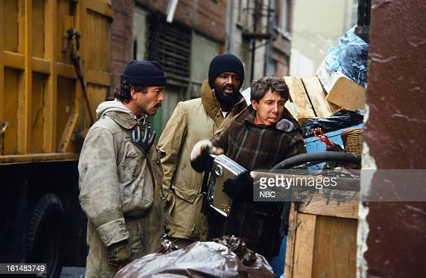 BLUES 'Intestinal Fortitude' Episode 512 Pictured Bruce Weitz as Det Mick Belker Taurean Blaque as Det Neal Washington Dann Florek as unidentified...