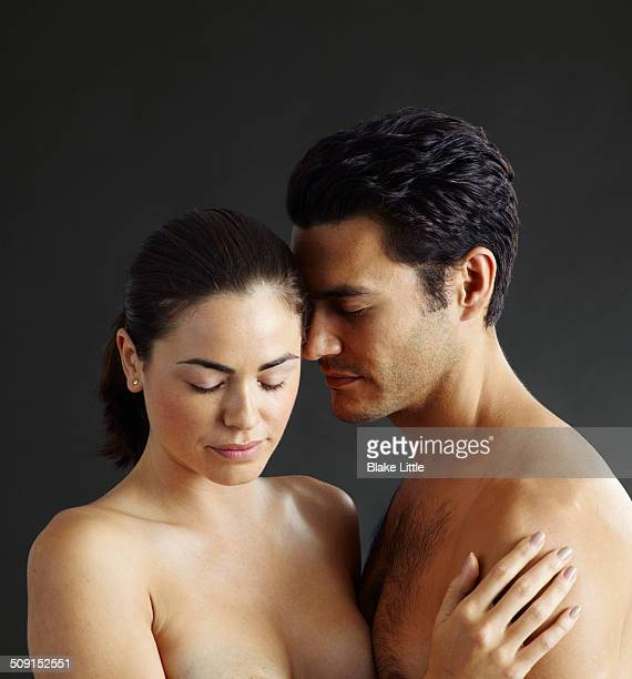 Intimate Couple Closeup Eyes Shut