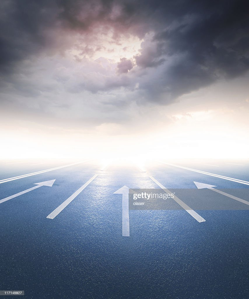Into the bright future? : Stock Photo