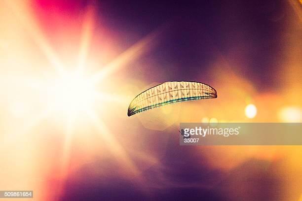 In der Sonne, und Gleitschirm-silhouette
