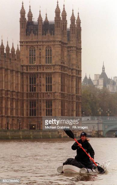 Intrepid explorer Sir Ranulph Fiennes on the River Thames after announcing his next adventure of a solo and unsupported attempt at the direct route...