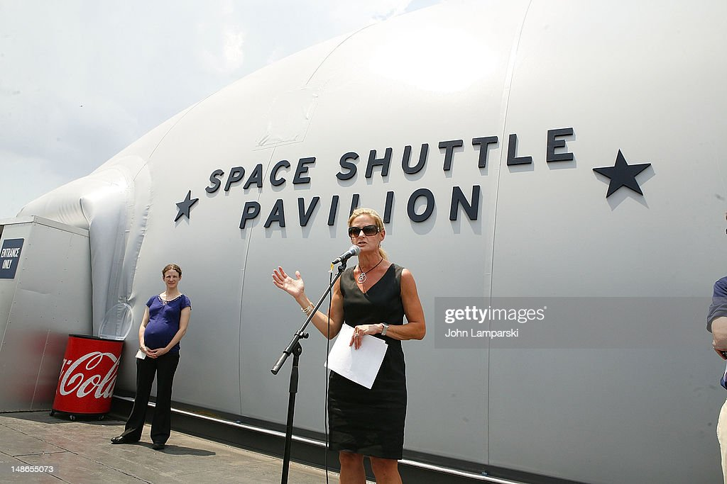 Intrepid Museum President, Susan Marenoff-Zausner attends the Space Shuttle Pavilion Press Preview at the Intrepid Sea-Air-Space Museum on July 18, 2012 in New York City.