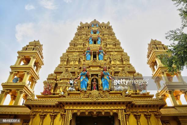 Intricate carvings adorn the Amman Hindu temple in Vavuniya Sri Lanka This newly built temple is dedicated to Goddess Sri Muthumariamman and is...