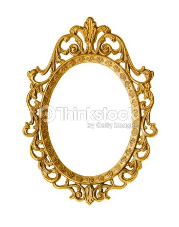 intricate golden antique frame on white background stock photo thinkstock. Black Bedroom Furniture Sets. Home Design Ideas