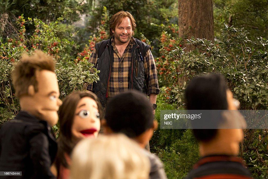 COMMUNITY -- 'Intro To Felt Surrogacy' Episode 413 -- Pictured: Jason Alexander as Mountain Man --