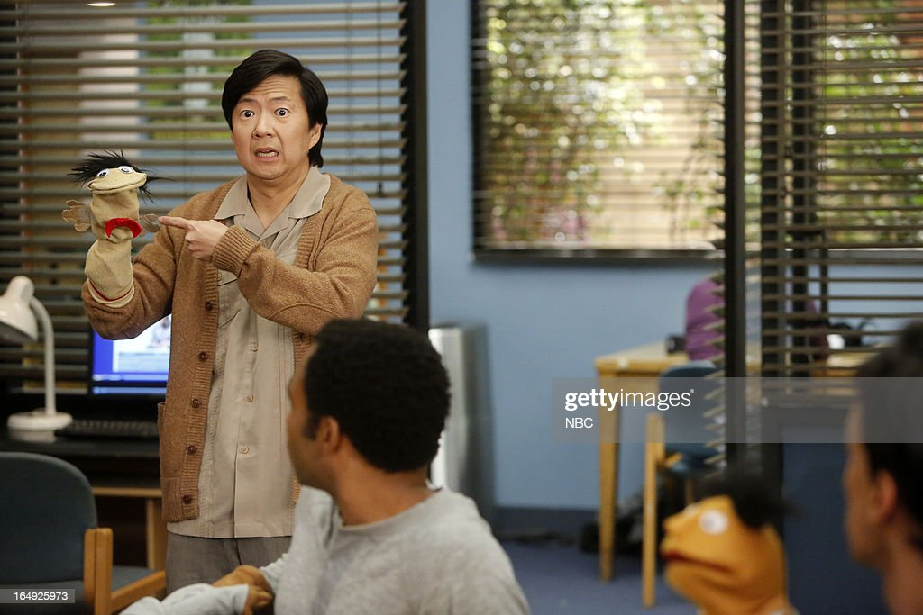 COMMUNITY -- 'Intro To Felt Surrogacy' Episode 413 -- Pictured: <a gi-track='captionPersonalityLinkClicked' href=/galleries/search?phrase=Ken+Jeong&family=editorial&specificpeople=4195975 ng-click='$event.stopPropagation()'>Ken Jeong</a> as Senor Chang --