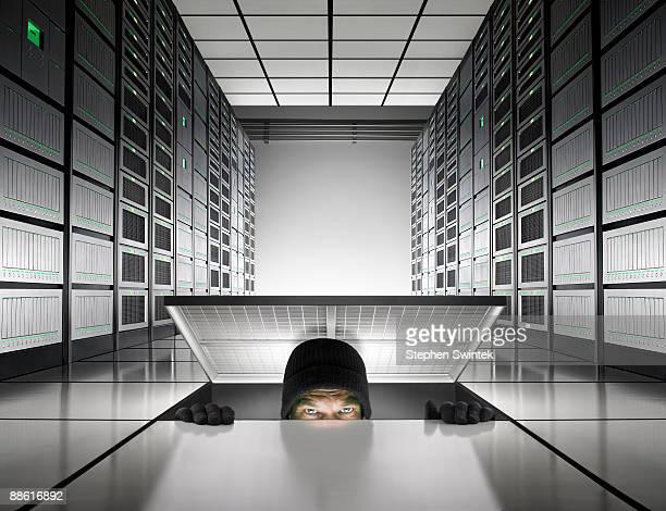 Intruder enters into server room