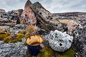 Inuit Grave, Harbour Islands, Nunavut, Canada