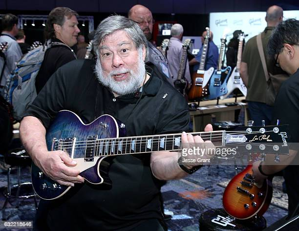 Inventer/Engineer Steve Wozniak attends the 2017 NAMM Show at the Anaheim Convention Center on January 20 2017 in Anaheim California