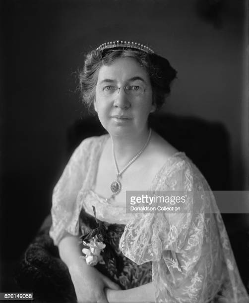 Inventor Alexander Graham Bell's wife Mabel Hubbard Gardiner Bell poses for a portrait in 1905