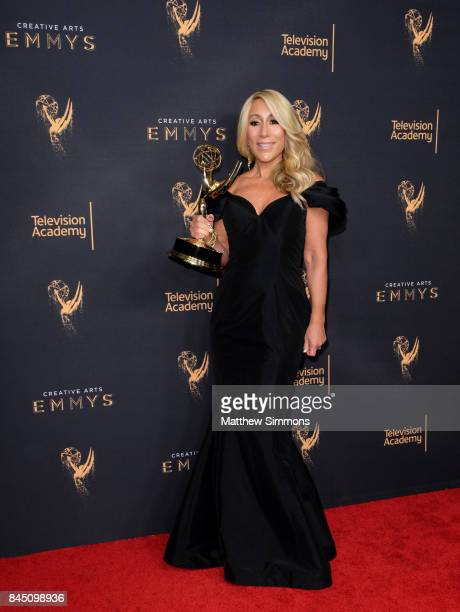 Inventor Lori Greiner poses in the pressroom during the 2017 Creative Arts Emmy Awards at Microsoft Theater on September 9 2017 in Los Angeles...