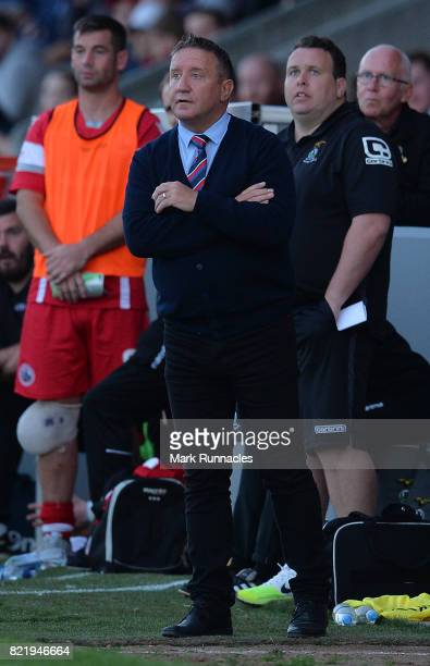 Inverness Caley Thistle manager John Robertson in action during the Betfred League Cup match between Stirling Albion and Inverness Caley Thistle at...