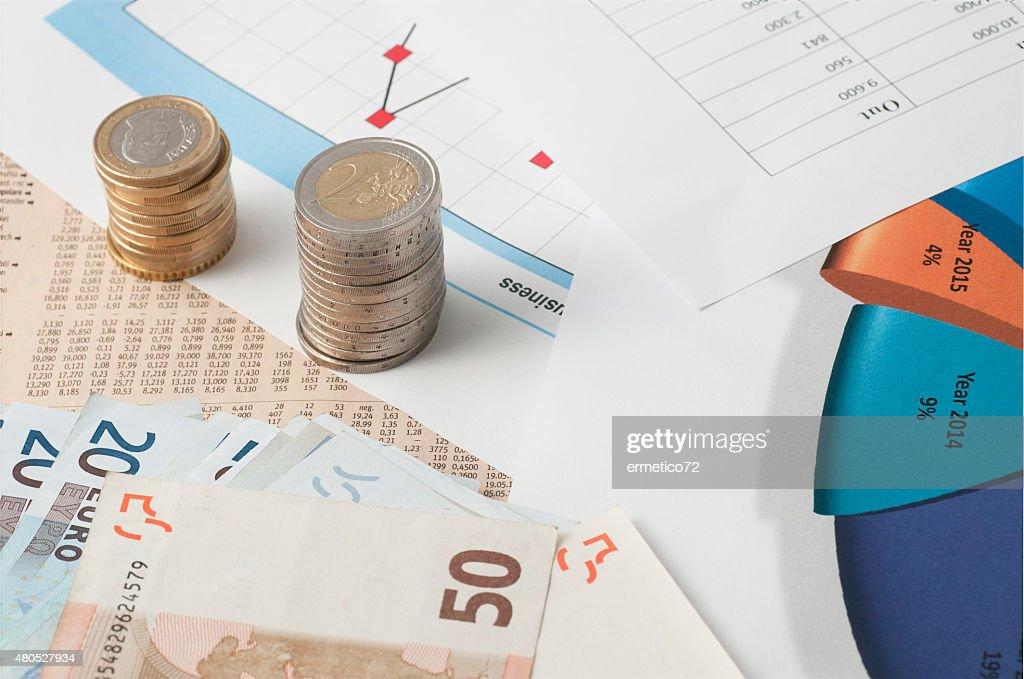invest and calculate the stock market : Stock Photo