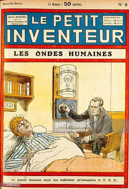 Investigating the electrical activity of the brain From Le Petit Inventeur Paris 1926