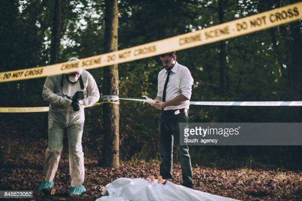 Investigation of a crime