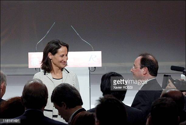 Investiture congres of Segolene Royal in mutuality in Paris France on November 26 2006 Francois Hollande and Segolene Royal
