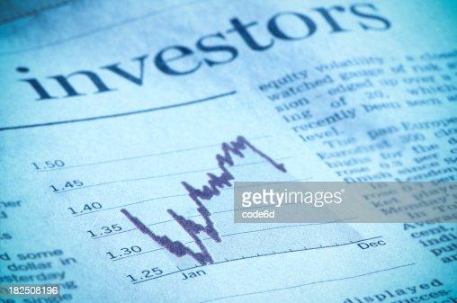 投資図金融投資家の雑誌、ヘッドライン、ユーロ、米ドル