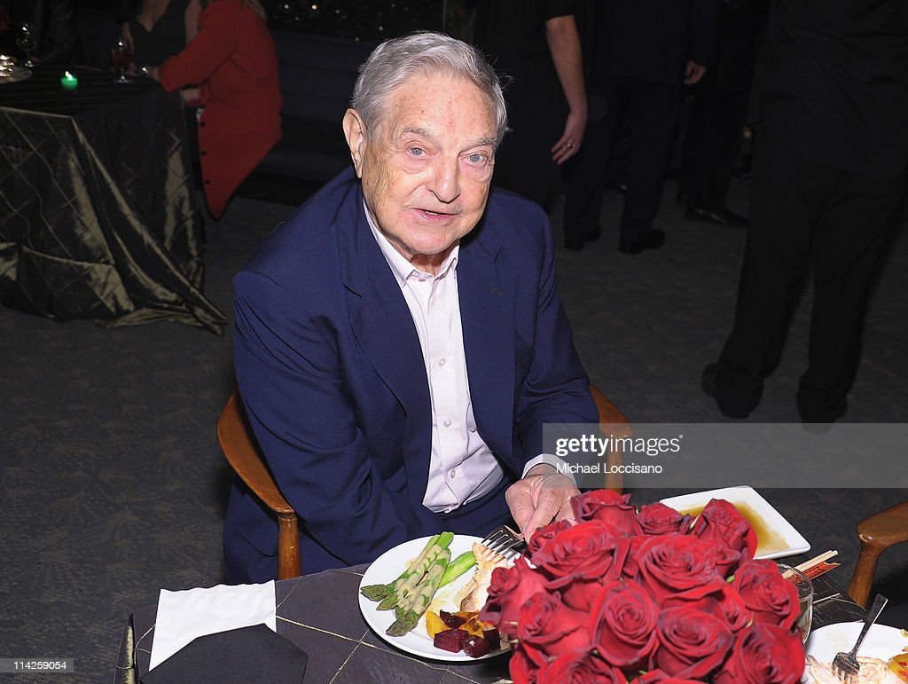 Investor <a gi-track='captionPersonalityLinkClicked' href=/galleries/search?phrase=George+Soros&family=editorial&specificpeople=212841 ng-click='$event.stopPropagation()'>George Soros</a> attends the 'Too Big To Fail' New York Premiere after party at the Four Seasons Restaurant on May 16, 2011 in New York City.