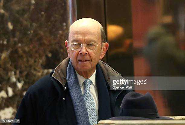 Investor Wilbur Ross arrives at Trump Tower on December 15 2016 in New York City PresidentElect Donald Trump continues to hold meetings with...