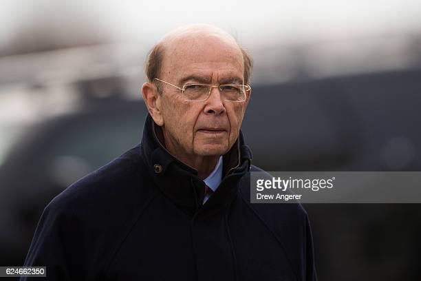 Investor Wilbur Ross arrives for his meeting with presidentelect Donald Trump at Trump International Golf Club November 20 2016 in Bedminster...