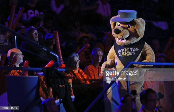 Invictus Games mascot Vimy performs prior to semifinal games on Day Eight in Wheelchair Basketball during the 2017 Invictus Games at Ryerson's...