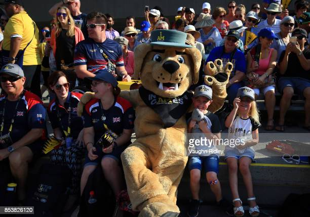 Invictus Games Mascot Vimy seen during a Wheelchair Tennis match during the Invictus Games 2017 at Nathan Phillips Square on September 25 2017 in...
