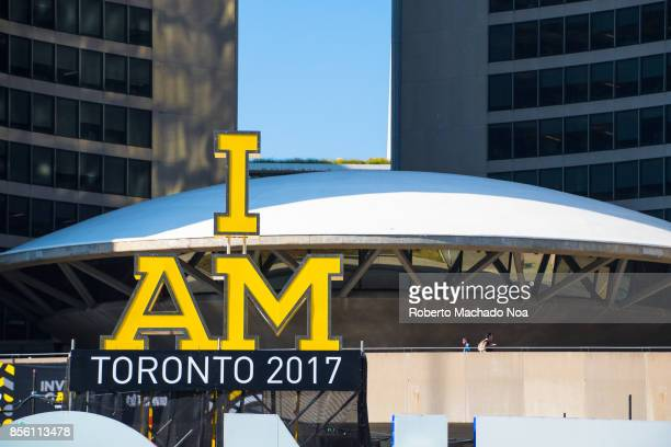 Invictus Games symbols decorating the New City Hall The Invictus Games is an international Paralympicstyle multisport event for wounded war veterans