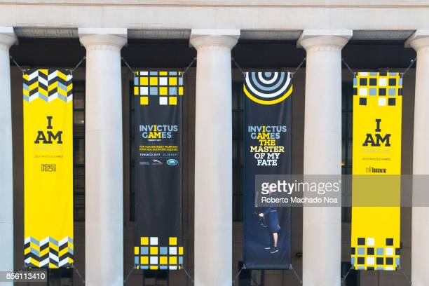 Invictus Games symbols decorating Union Station The Invictus Games is an international Paralympicstyle multisport event for wounded war veterans