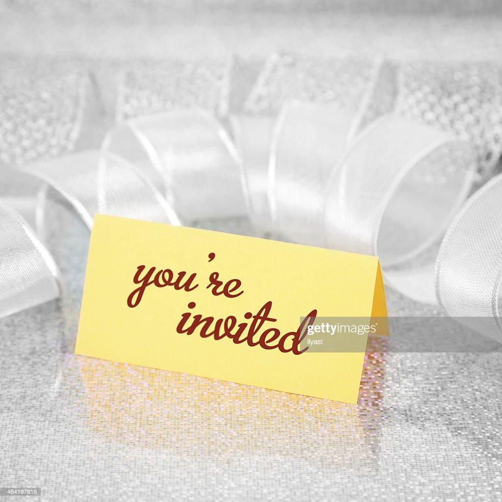 Convite : Foto de stock