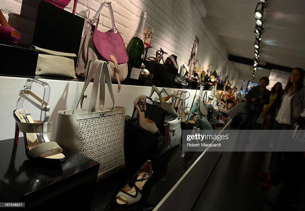 Invited guests attend the Cuple store opening on April 24, 2013 in Barcelona, Spain.