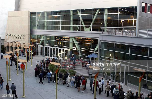 Invited guests line up outside the ArcLight Cinemas where a special screening of 'Runaway Jury' was shown as part of the Variety Screening Series on...