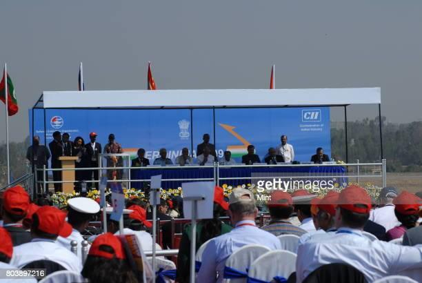 Invites dignitaries at inaugural ceremony of Aero India 2009 Asias premier air show at Air Force station Yelahanka in BangaloreThe show aims at...