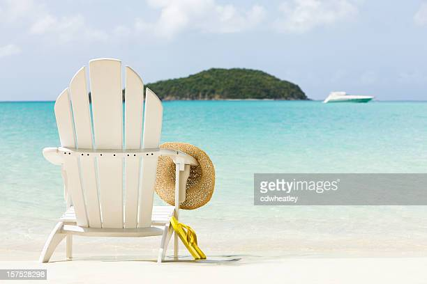 inviting chair on a tropical beach