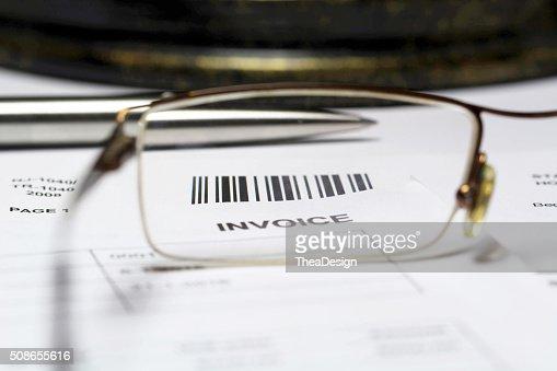 Invoice letter : Stock Photo