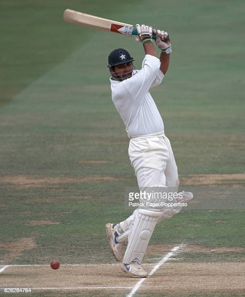 InzamamulHaq batting for Pakistan during his innings of 148 in the 1st Test match between England and Pakistan at Lord's Cricket Ground London 25th...
