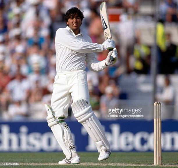 InzamamulHaq batting for Pakistan during the 2nd Texaco Trophy One Day International between England and Pakistan at The Oval London 22nd May 1992