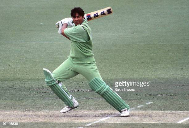 InzamamUlHaq of Pakistan bats during a One Day International match between Australia and Pakistan on December 13 1990 in Australia