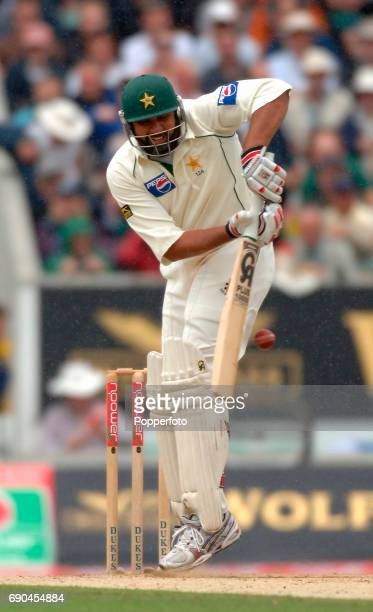InzamamulHaq of Pakistan in action during day three of the 4th Npower test match between England and Pakistan at the Oval in London on the 19th...