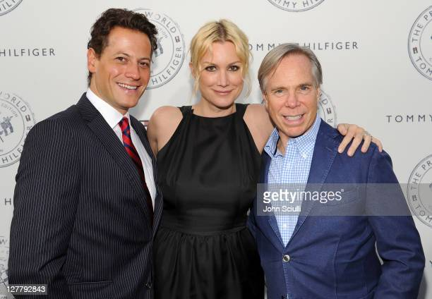 Ioan Gruffudd Alice Evans and Tommy Hilfiger arrive for Tommy Hilfiger and Lisa Birnbach Celebration of Prep World on June 9 2011 in Los Angeles...