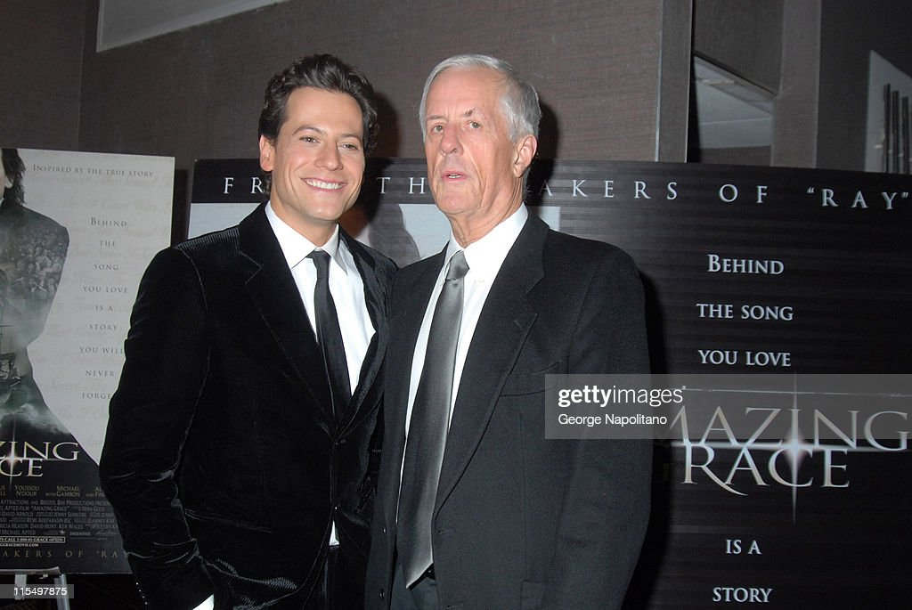 <a gi-track='captionPersonalityLinkClicked' href=/galleries/search?phrase=Ioan+Gruffudd&family=editorial&specificpeople=212745 ng-click='$event.stopPropagation()'>Ioan Gruffudd</a> and director <a gi-track='captionPersonalityLinkClicked' href=/galleries/search?phrase=Michael+Apted&family=editorial&specificpeople=211167 ng-click='$event.stopPropagation()'>Michael Apted</a> during 'Amazing Grace' New York City Premiere - February 12, 2007 at Cinema I in New York City, New York, United States.