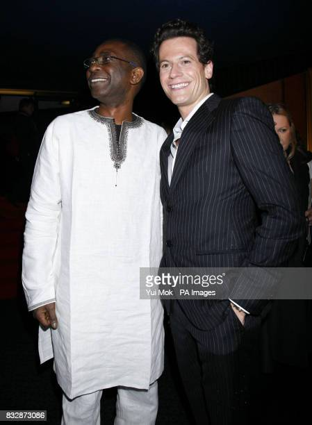 Ioan Gruffudd and Youssou N'Dour arrive for the UK Premiere of Amazing Grace at the Curzon Mayfair in central London