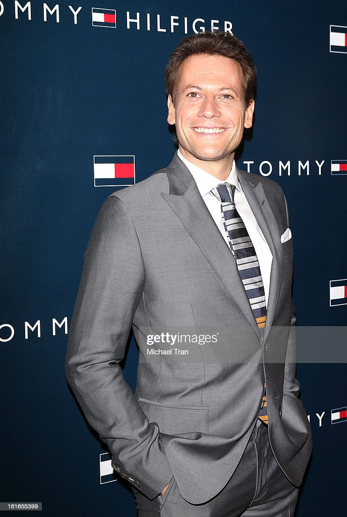 <a gi-track='captionPersonalityLinkClicked' href=/galleries/search?phrase=Ioan+Gruffudd&family=editorial&specificpeople=212745 ng-click='$event.stopPropagation()'>Ioan Gruffudd</a> arrives at the Tommy Hilfiger West Coast Flagship grand opening event held on February 13, 2013 in West Hollywood, California.