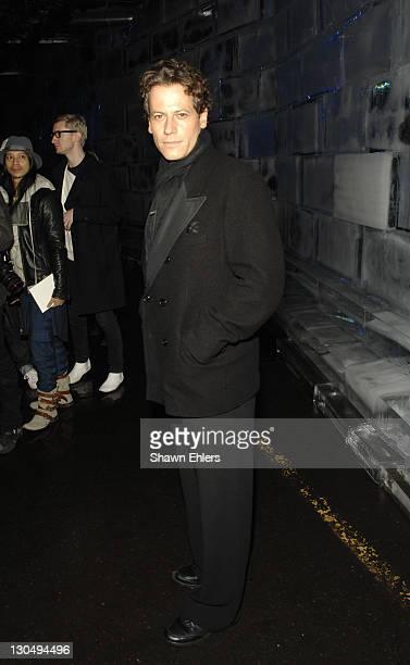 Ioan Gruffudd attends Y3 Fall 2008 during MercedesBenz Fashion Week at Bryant Park on February 3 2008 in New York City