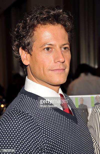 Ioan Gruffudd poses backstage at the Tommy Hilfiger Fall 2008 fashion show during MercedesBenz Fashion Week Fall 2008 at Avery Fisher Hall at Lincoln...