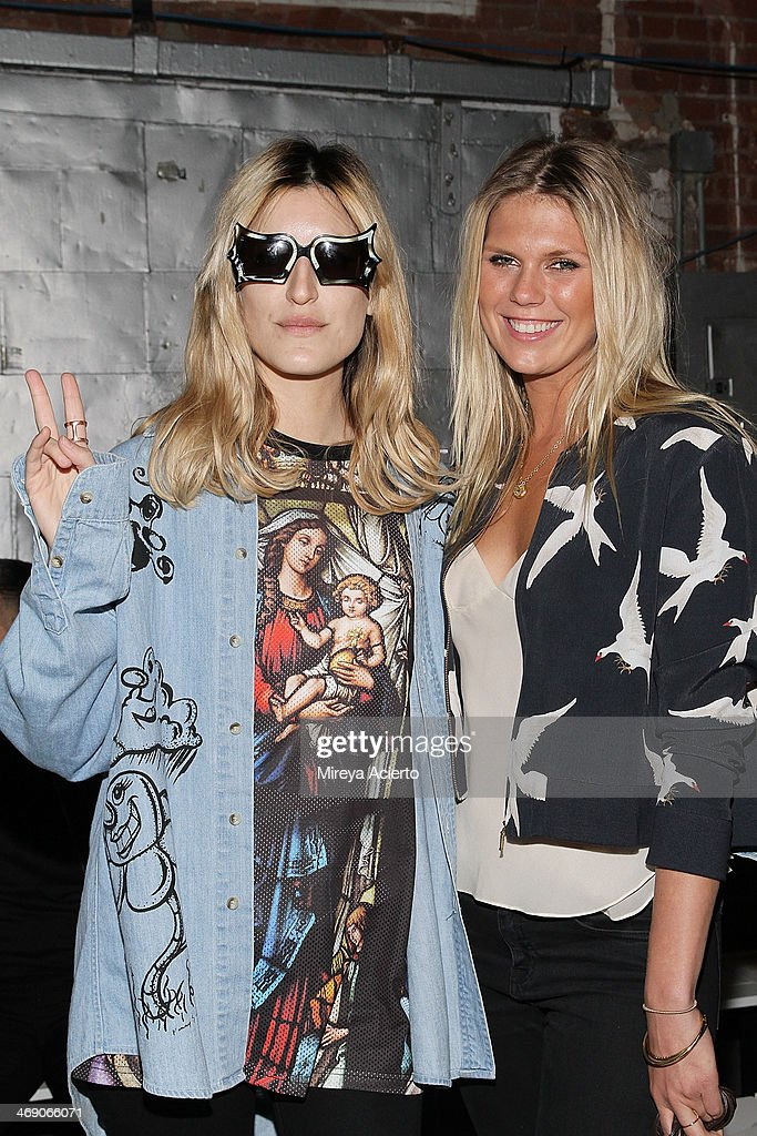 Ioanna Gika and Alexandra RIchards attend the Sass & Bide fashion show during Mercedes-Benz Fashion Week Fall 2014 at The Waterfront on February 12, 2014 in New York City.